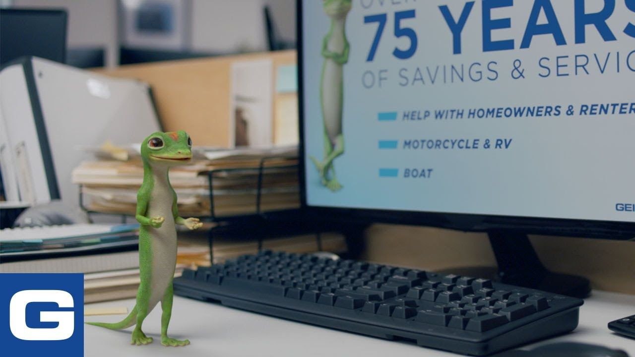 The Gecko Stays Late At Work 8211 Geico Insurance In 2020