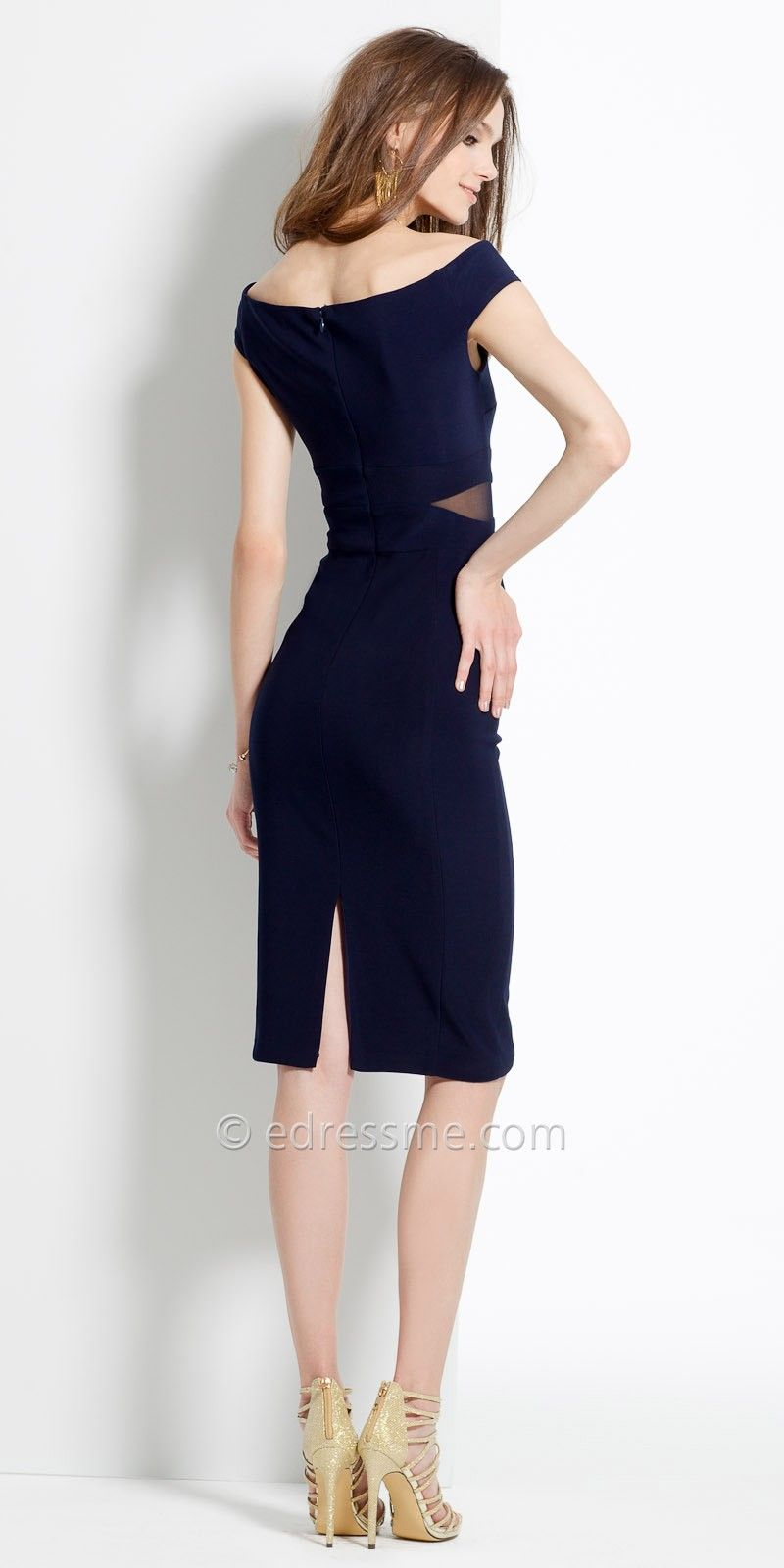 Jersey Midi Off the Shoulder Dress by Camille La Vie