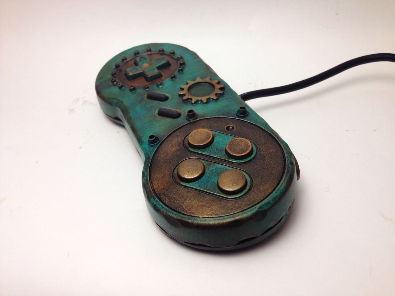 Custom SNES controller for 8bitaesthetics all wrapped up  If you'd