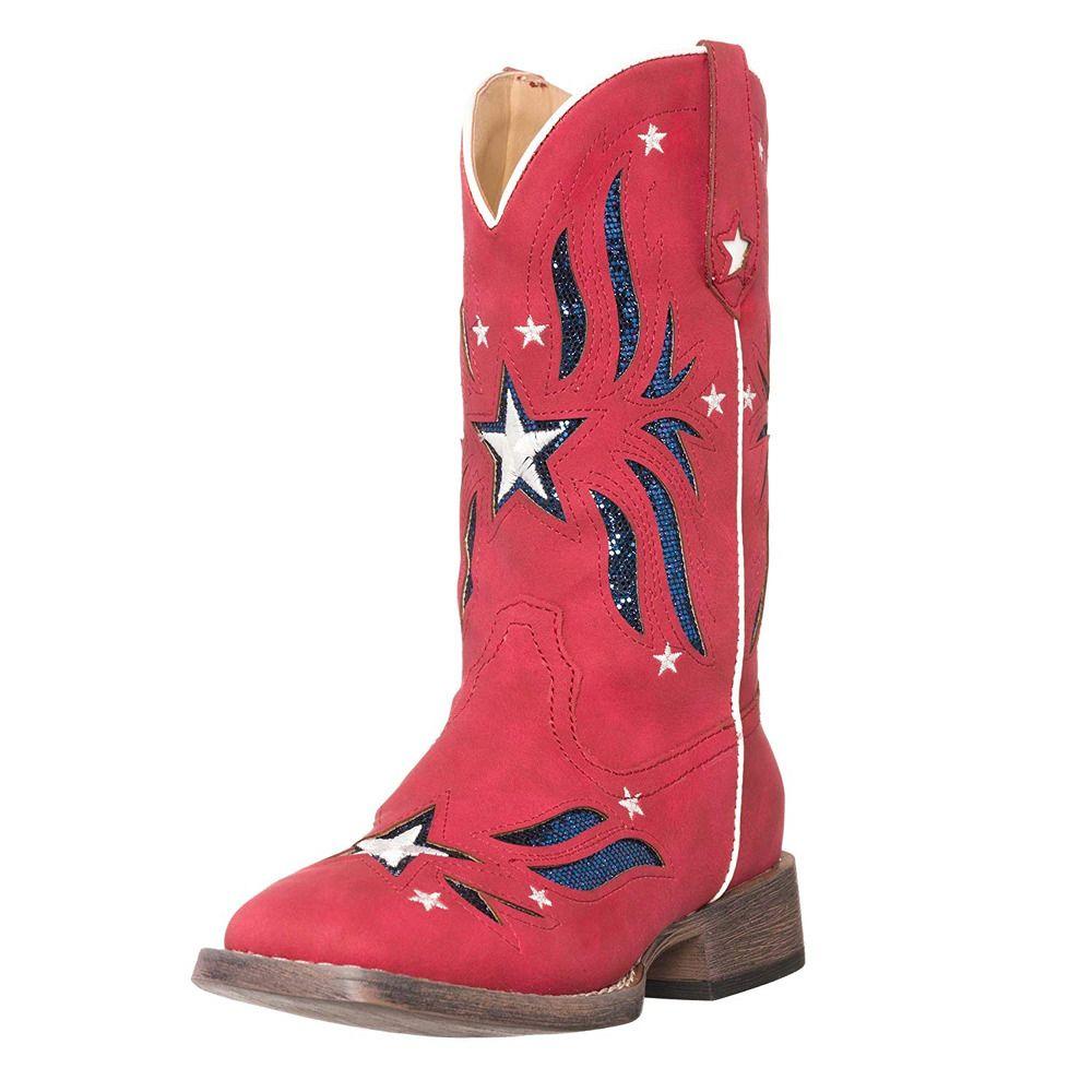 Children Western Kid Cowboy Boot Red Girls
