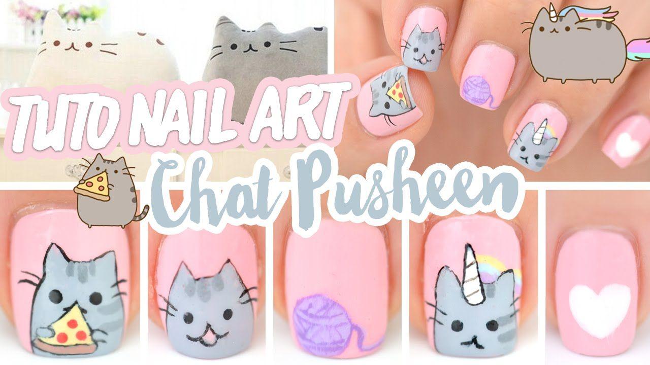 Nail art ♡ Chat Pusheen Licorne et Pizza | Nails art | Pinterest ...