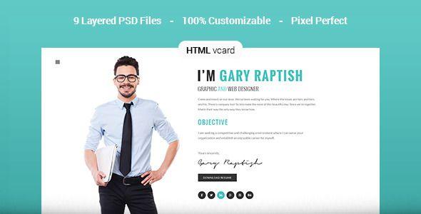 Raptish premium vcardresume html template virtual business card raptish premium vcardresume html template virtual business card download businesscard accmission Gallery