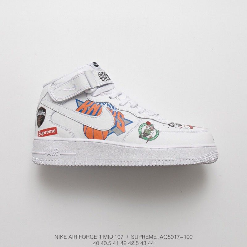 a97ab9a96154 Fsr Nike Air Force Supreme Nba Af1 Limited Edition Black And White ...