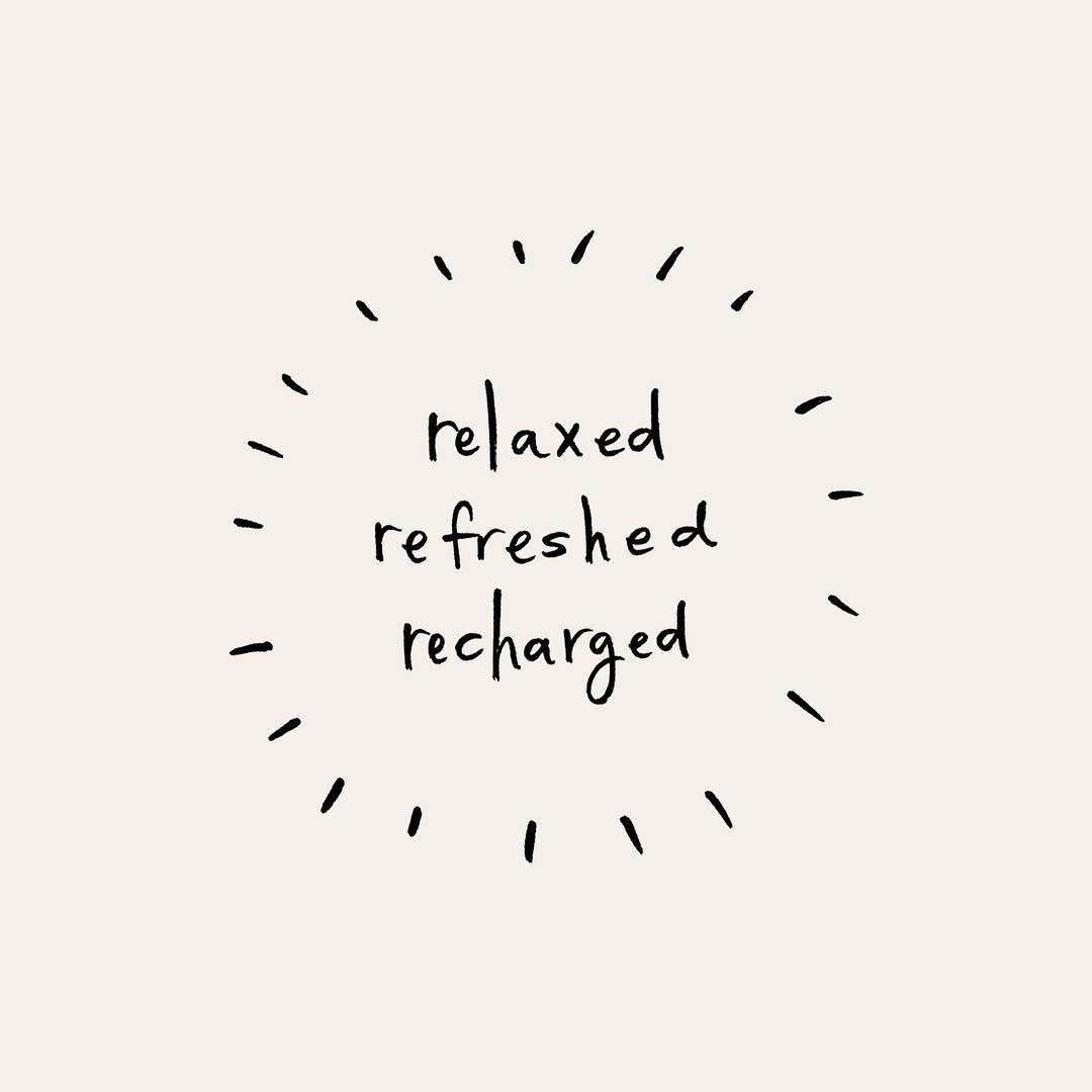 relaxed • refreshed • recharged | Pace Creative Design Studio ...