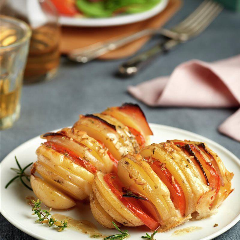 Patatas rellenas con fiambre de pavo