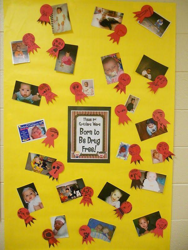Cute Red Ribbon Week Bulletin Board Born To Be Drug Free
