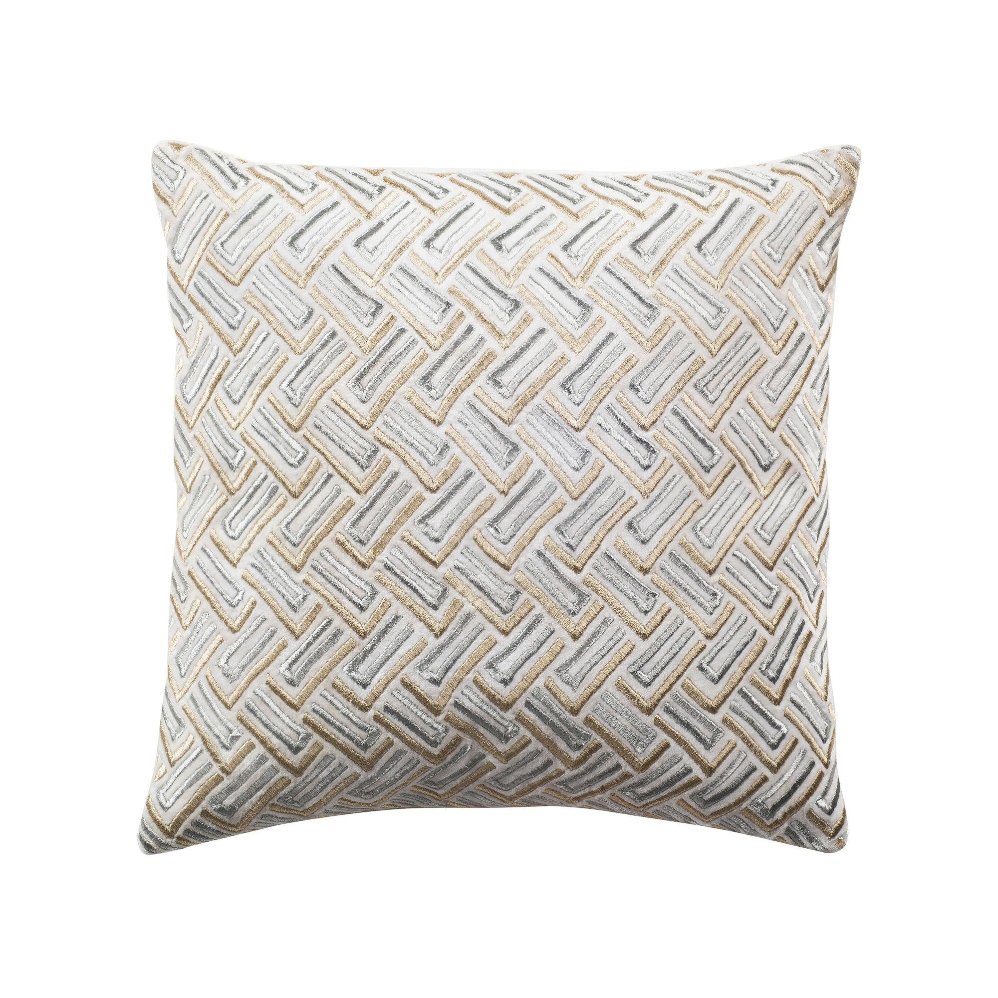 Safavieh Metallic Geometric Throw Pillow Multicolor With Images Metallic Throw Pillow Metallic Pillow Gold Decorative Pillows