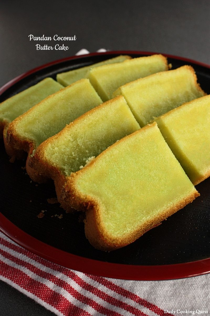 Pandan Coconut Butter Cake Recipe Dessert Recipes