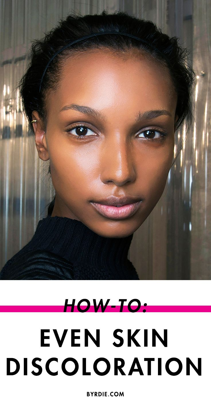 How to Even Out Discoloration on Darker Skin Tones Black