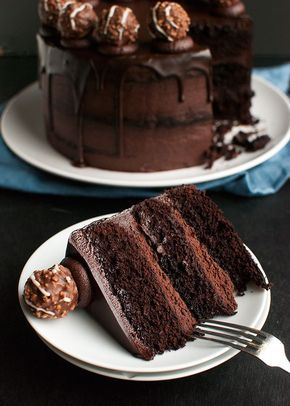 Triple Dark Chocolate Cake