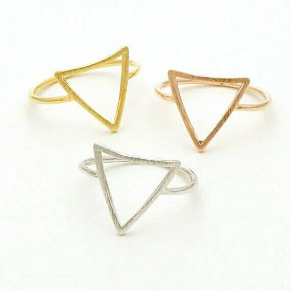 Triangle Ring Dainty Jewelry Minimalist Ring Everyday by newfemme  #handmadejewelry #handmade #handmadejewellery #gemstone #ring #silverring #silver #etsy #etsyseller #etsylover #etsyhandmade #dainty #women #fine #specialjewelry #shop #newfemmeshop #goldring #rosegoldring