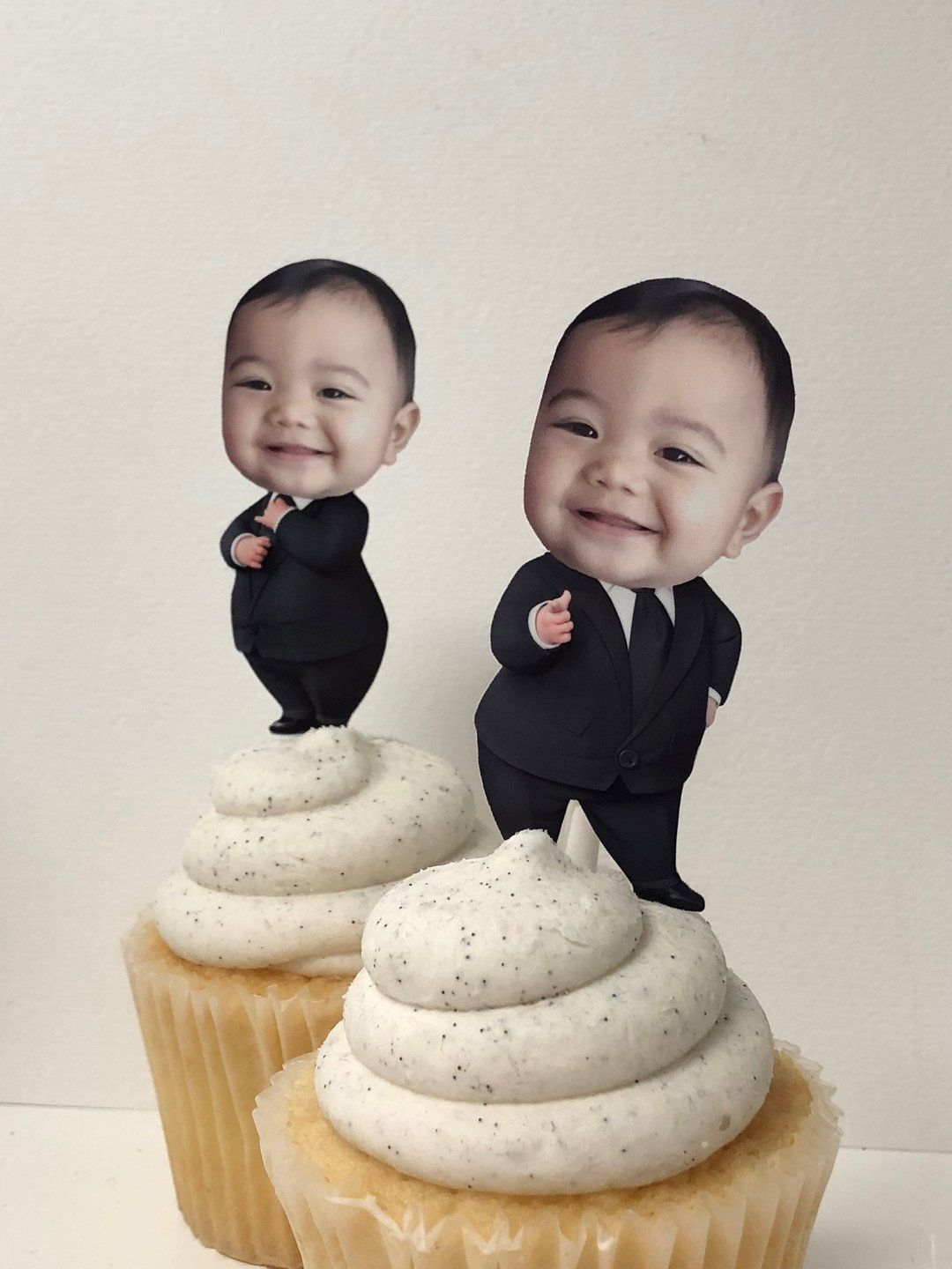 Boss baby cupcake toppers in 2020 boss birthday baby