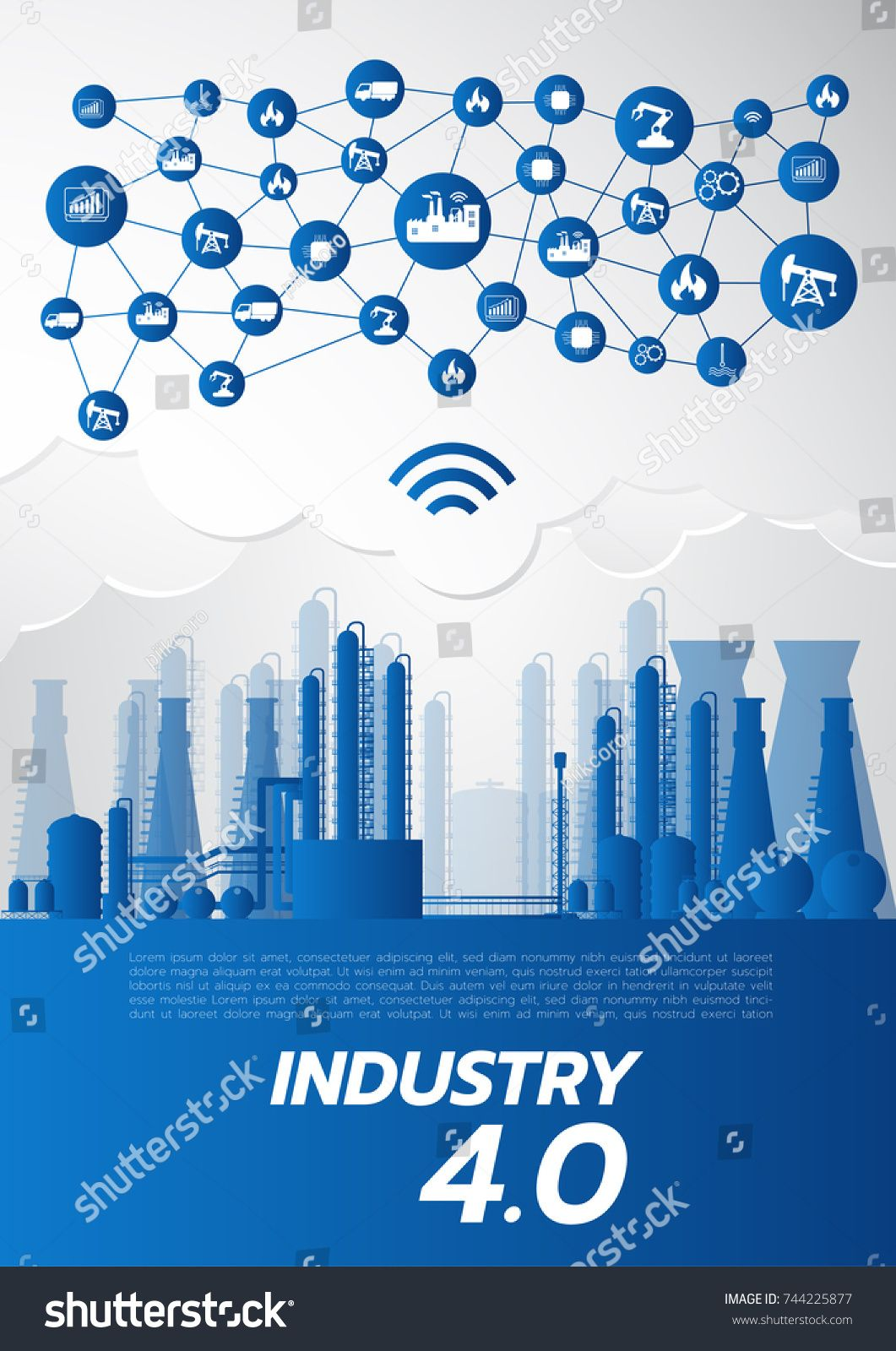 Industry 4 0 Concept Smart Factory Solution Manufacturing
