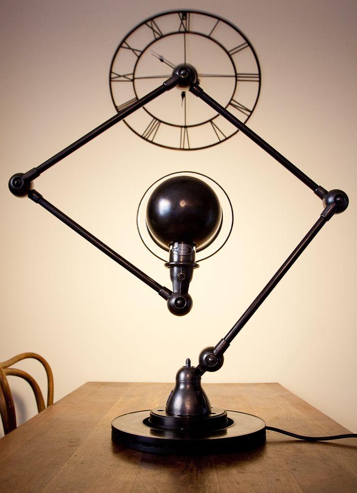 Lampe Jielde 4 Bras 3 Plaque Noire Patinee Graphite Lightning