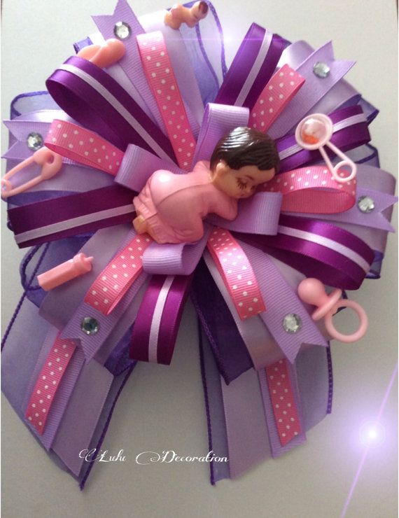 How To Make The Cutest Baby Shower Corsage Con Imagenes