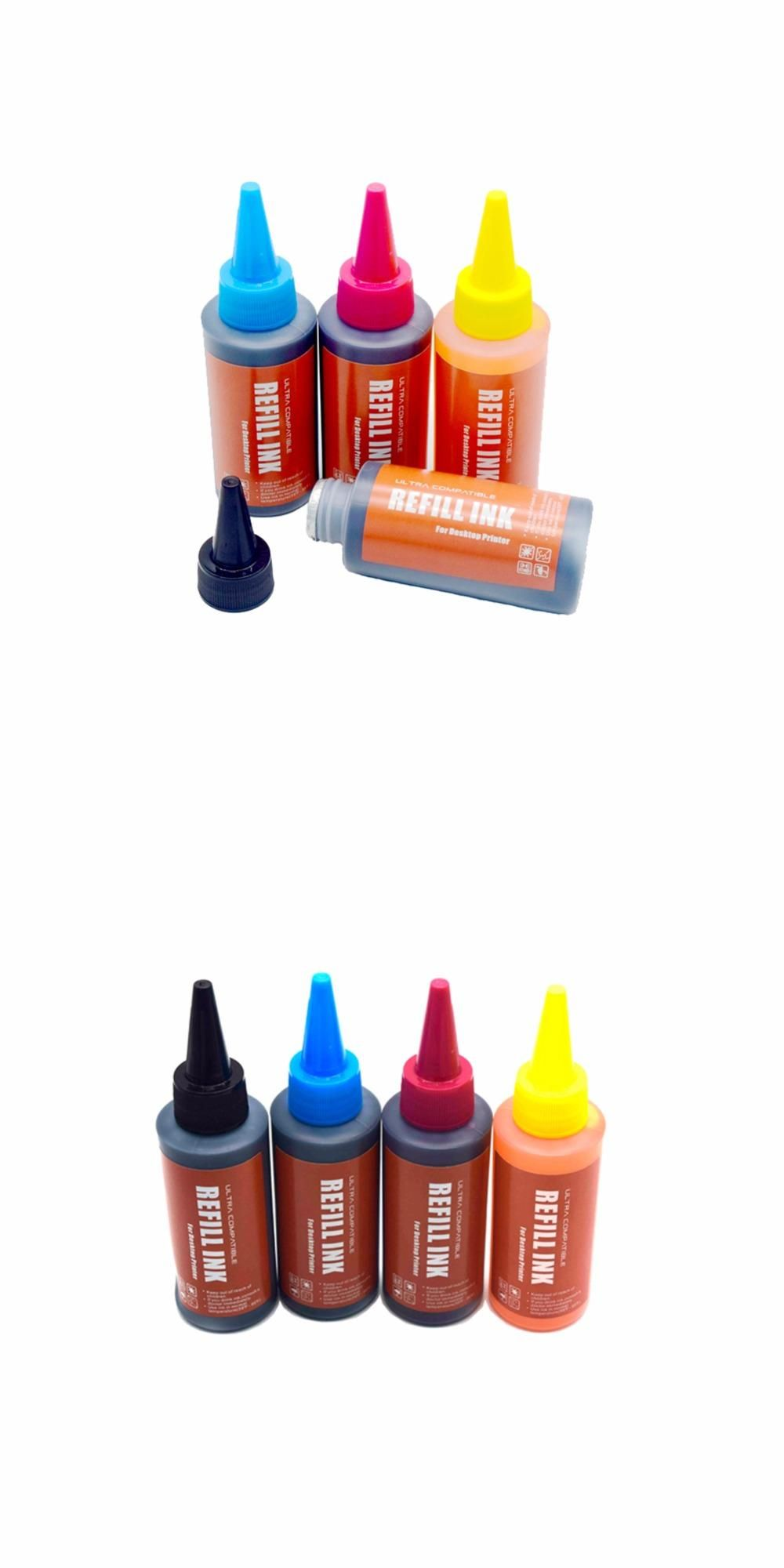 Visit to Buy] CK 4Pack 400ml ink Universal Refill Ink kit