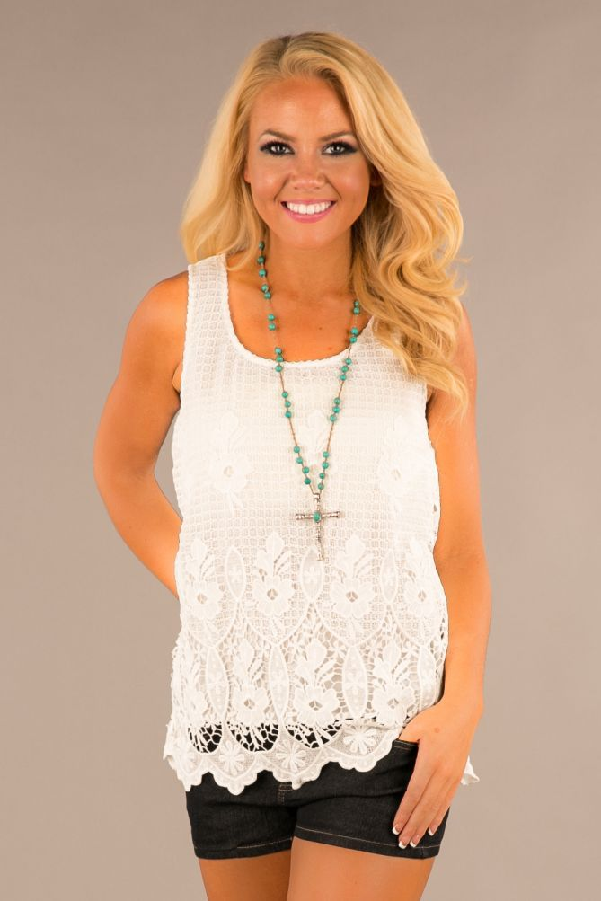 Pink Coconut Boutique   Sunny Afternoon Top - Ivory