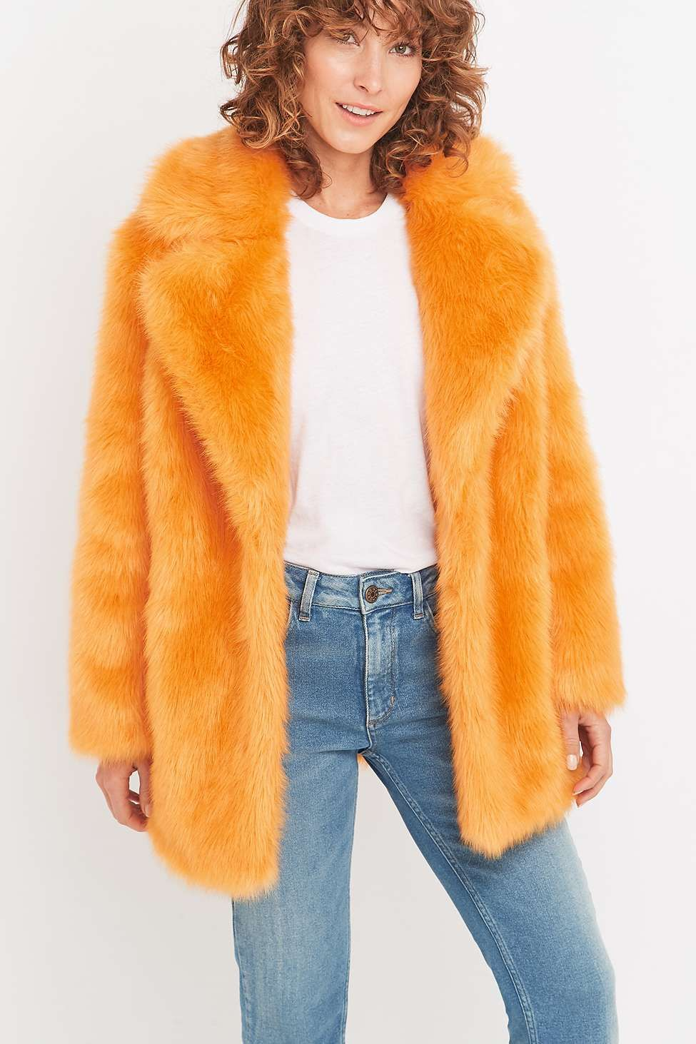 8f36c8e252 Jakke Heather Orange Faux-Fur Jacket | I'll Just Get My Wrap ...