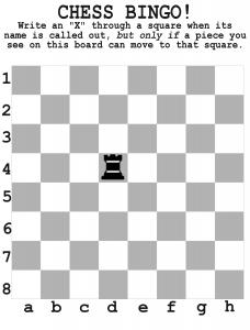 Chess Bingo  Chess For Kids    Chess