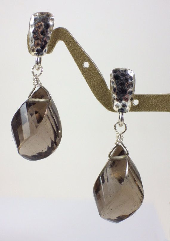 Sterling silver and Smoky Quartz Earrings by KarenWhalenDesigns, $48.00
