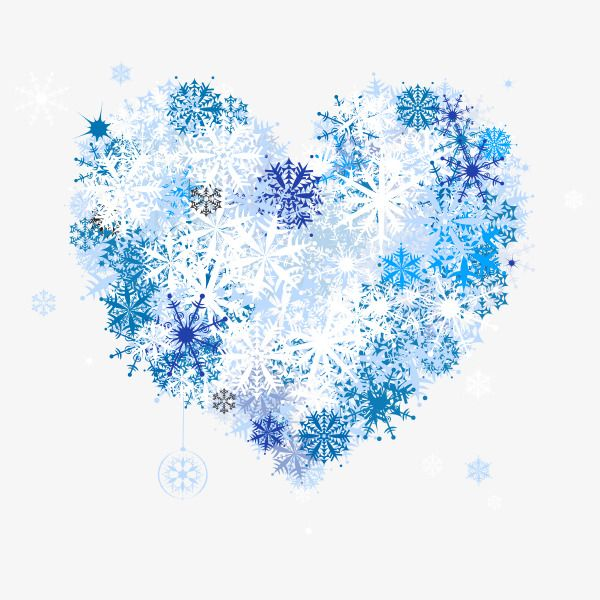 Image result for free clipart hearts and snowflakes February