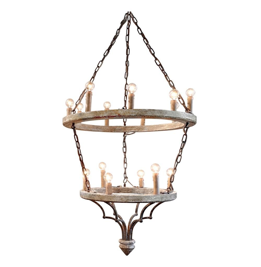 Joselyn Grand 15 Light French Country Cottage Rustic Chandelier – Rustic French Chandelier