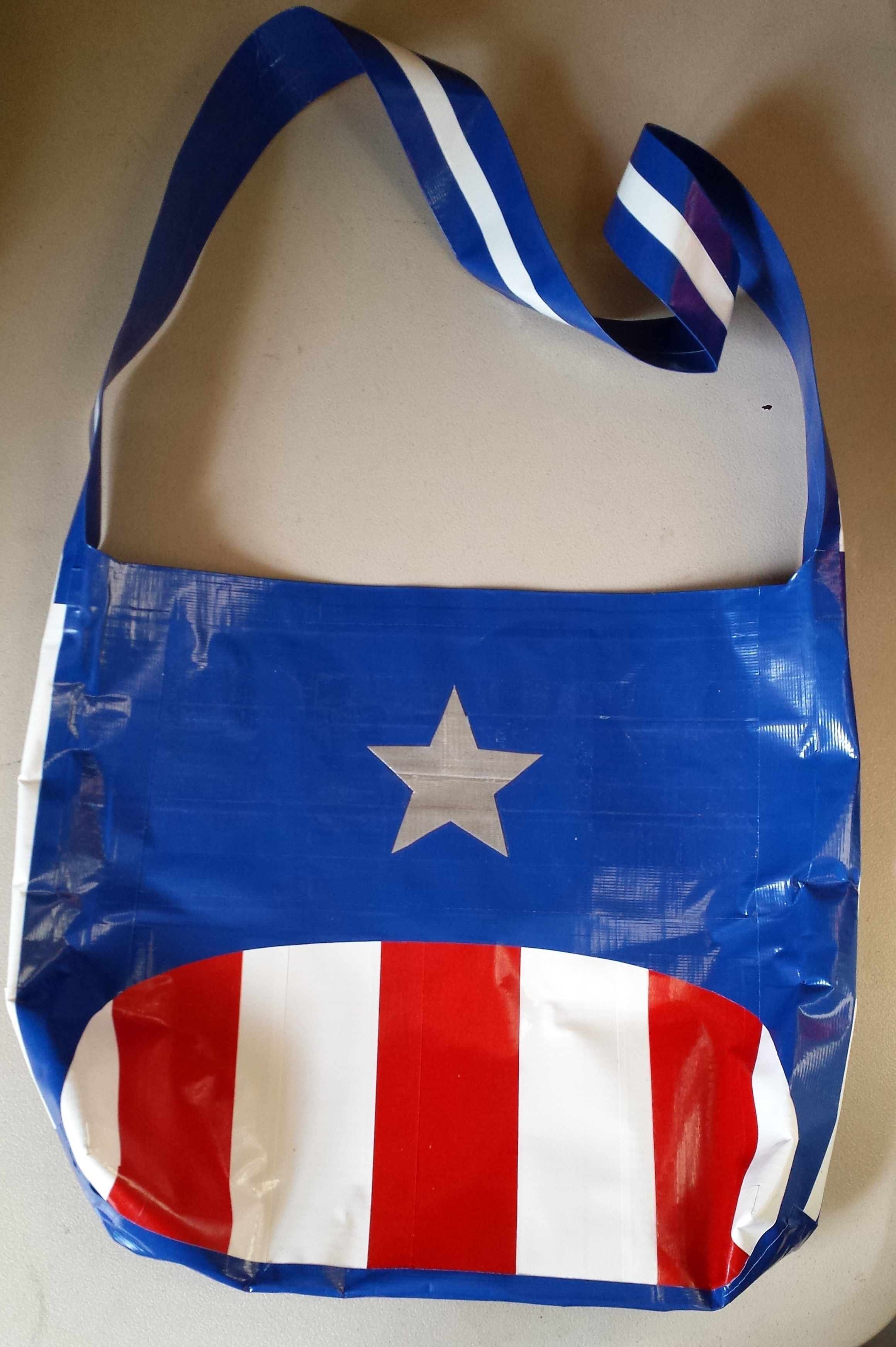 Captain America duct tape bag