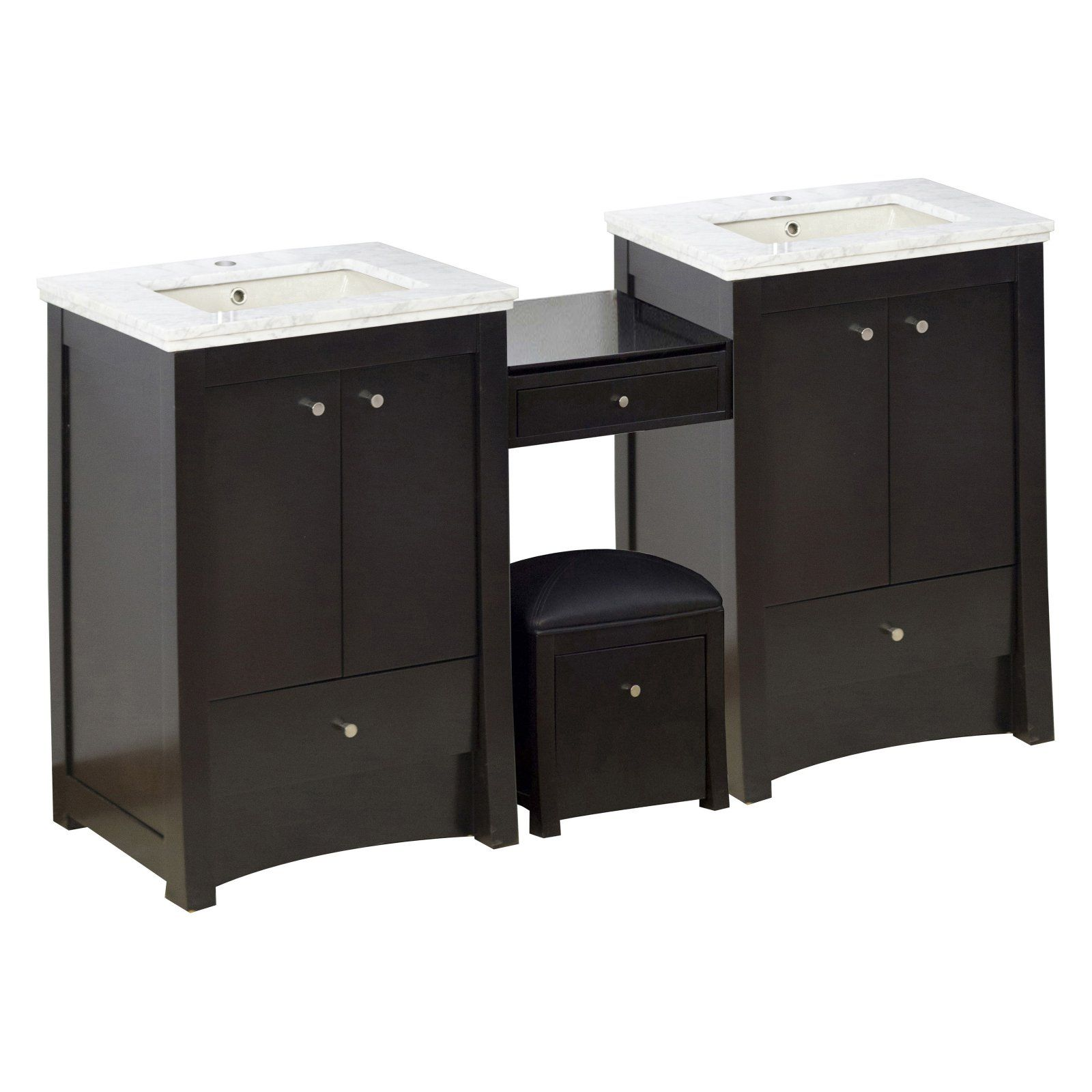 American Imaginations Elite Double Undermount Sink Bathroom Vanity
