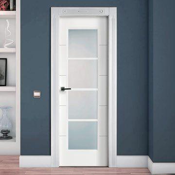 San Rafael Lacada Glazed Fire Door Model 9005v4 White Painted Internal Glass Doors Fire Doors Glazed Fire Doors