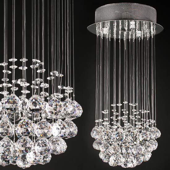 kristall deckenleuchte 50cm g nstig kaufen auf. Black Bedroom Furniture Sets. Home Design Ideas