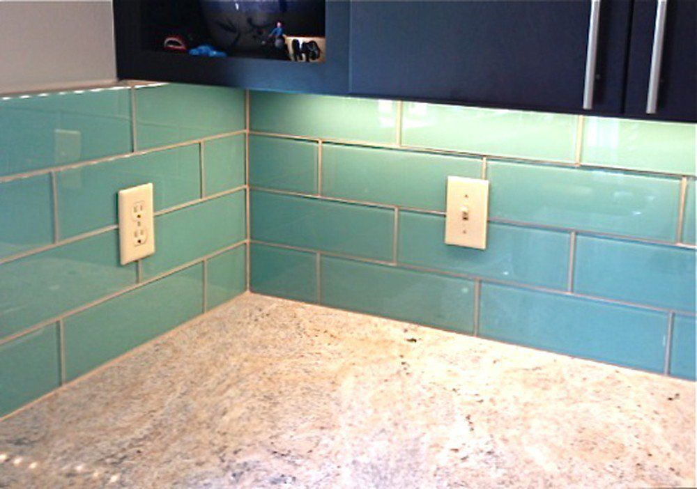 Aqua Blue Glass Subway Tile In Pool Modwalls Designer Tile Lush