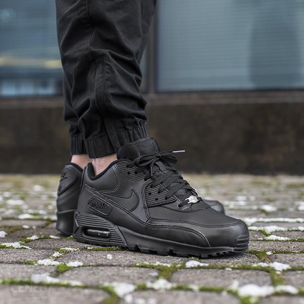 huge selection of bbf6a 70a87 Cheap Nike Air Max 90 Leather All Black Trainers Sale For Mens And Womens