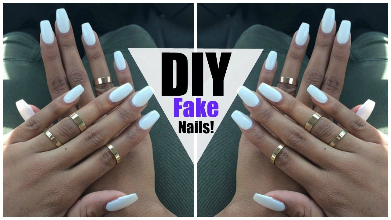 Https Www Youtube Com Watch V Hnbdau6lng Feature Share Diy Long Nails Fake Nails Diy Diy Nails Easy