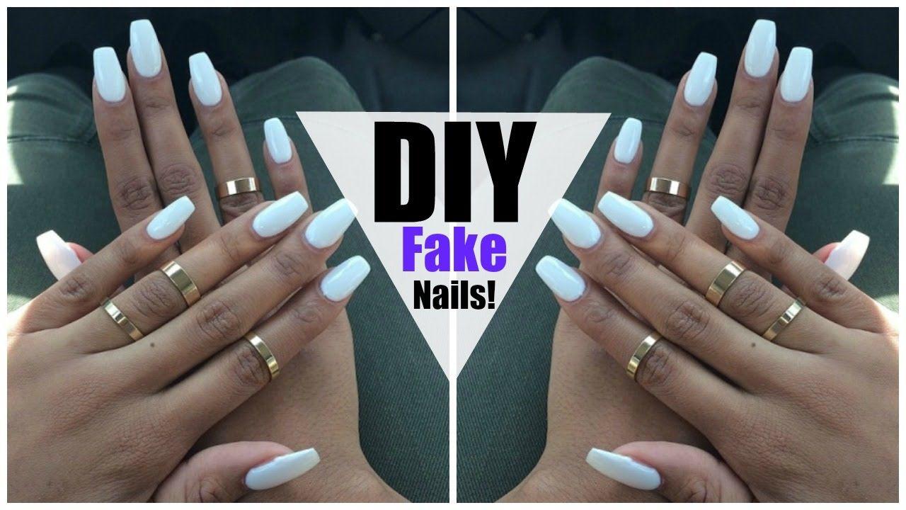 Https Www Youtube Com Watch V Hnbdau6lng Feature Share Fake Nails Diy Diy Long Nails Diy Nails Easy