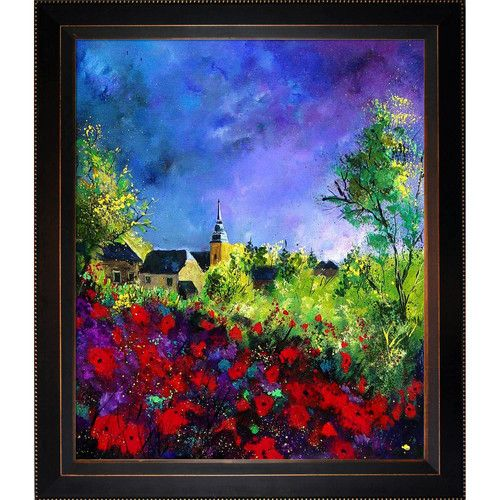 Found it at Wayfair - Ledent - Poppies in Villers Framed, High Quality Print on Canvas