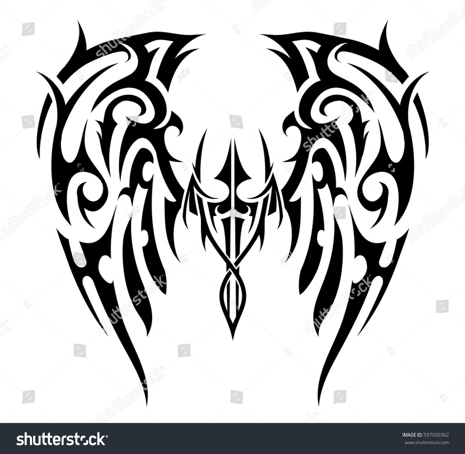 39b6c7c39 tribal angel wings drawings - - Yahoo Image Search Results ...