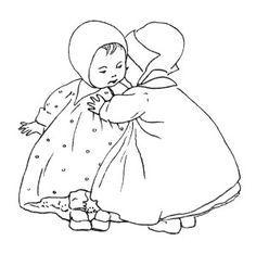 Free Baby Clip Art ~ Black and White Illustration