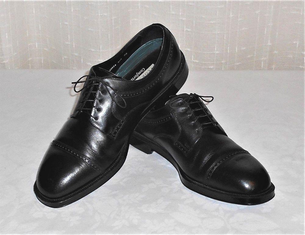 Florsheim Comfortech Black Leather Cap Toe Oxford Shoe Men s Size 13 D   Florsheim  CapToeDressOxfords 627340efec37