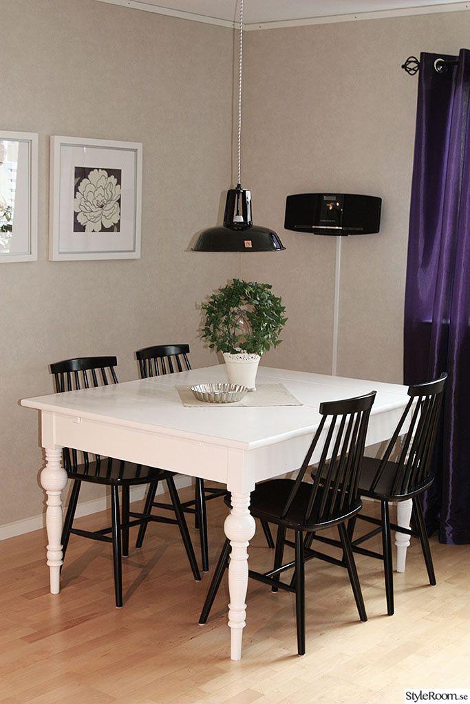 matplats,bord,sekelskifte,pinnstolar,svarta Rokoko,återbruk Pinterest Dinner, Places and