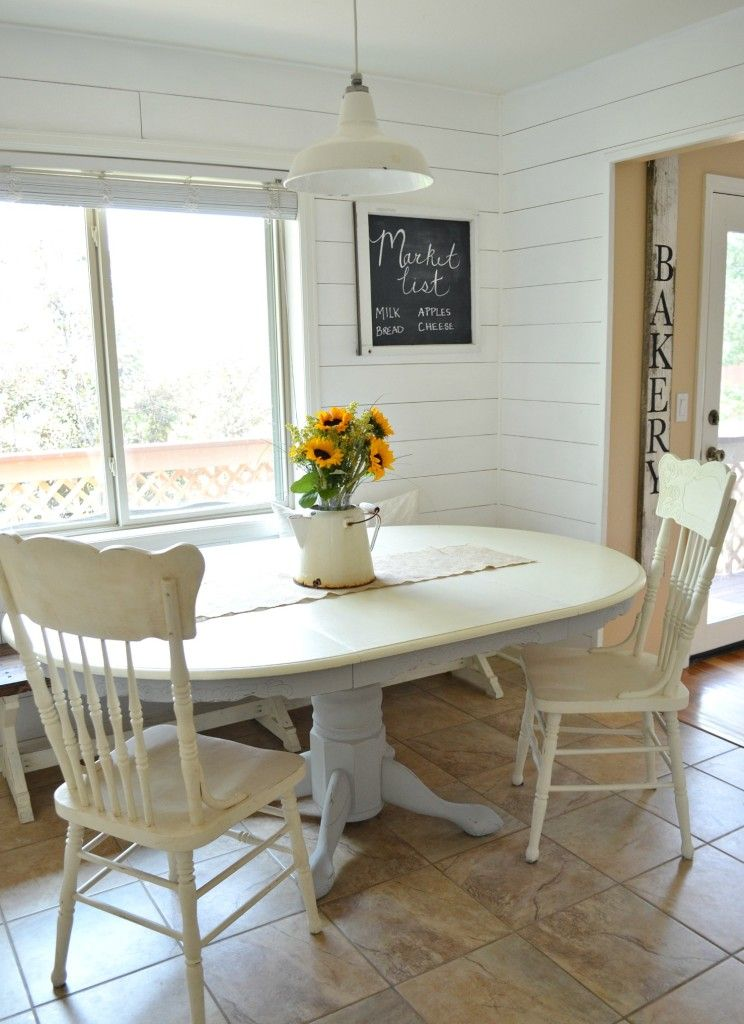 Chalk paint dining table makeover diy dining room table