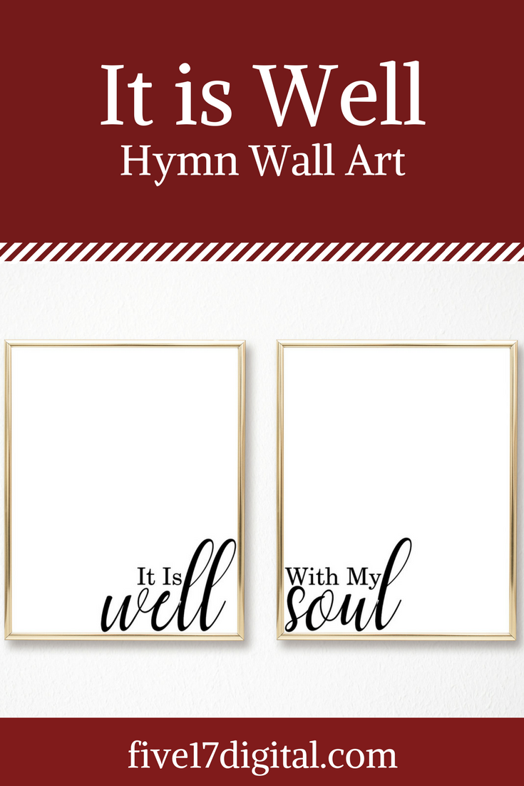 It is well with my soul christian hymn print mother   day  religious printable minimalist wall art inspirational home decor also rh pl pinterest