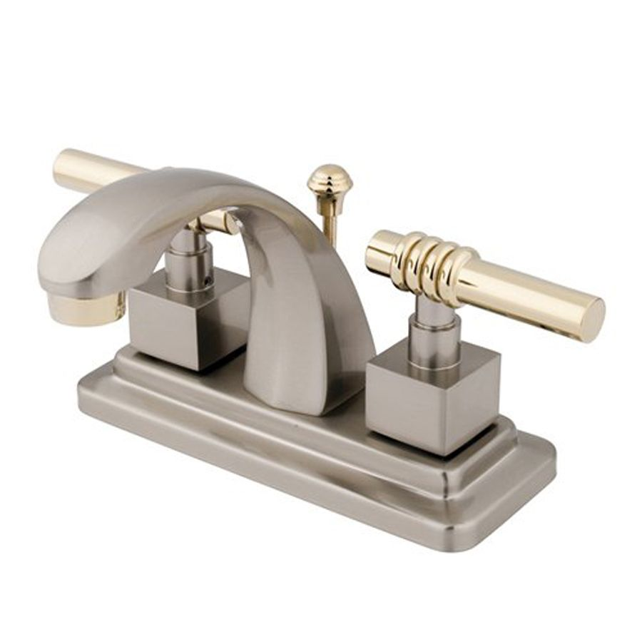 Elements Of Design Milano Satin Nickel Polished Brass 2 Handle 4