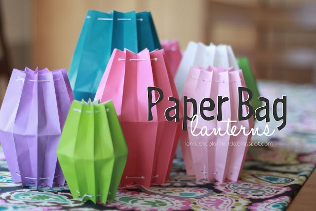 How to's : Paper Bag Lanterns. What a fun summer craft!