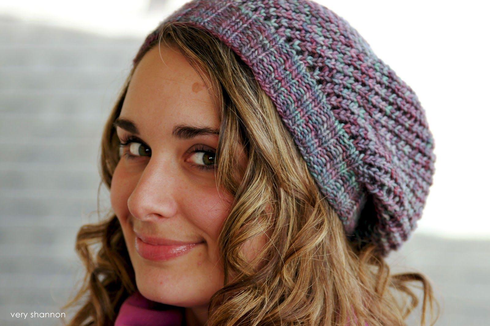 FREE PATTERN || YARNSTER HAT|| veryshannon.com knit slouchy hat ...