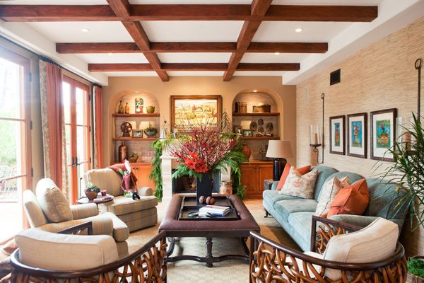 amazing spanish style living room design | Spanish Style Home | Living Rooms | Spanish style homes ...