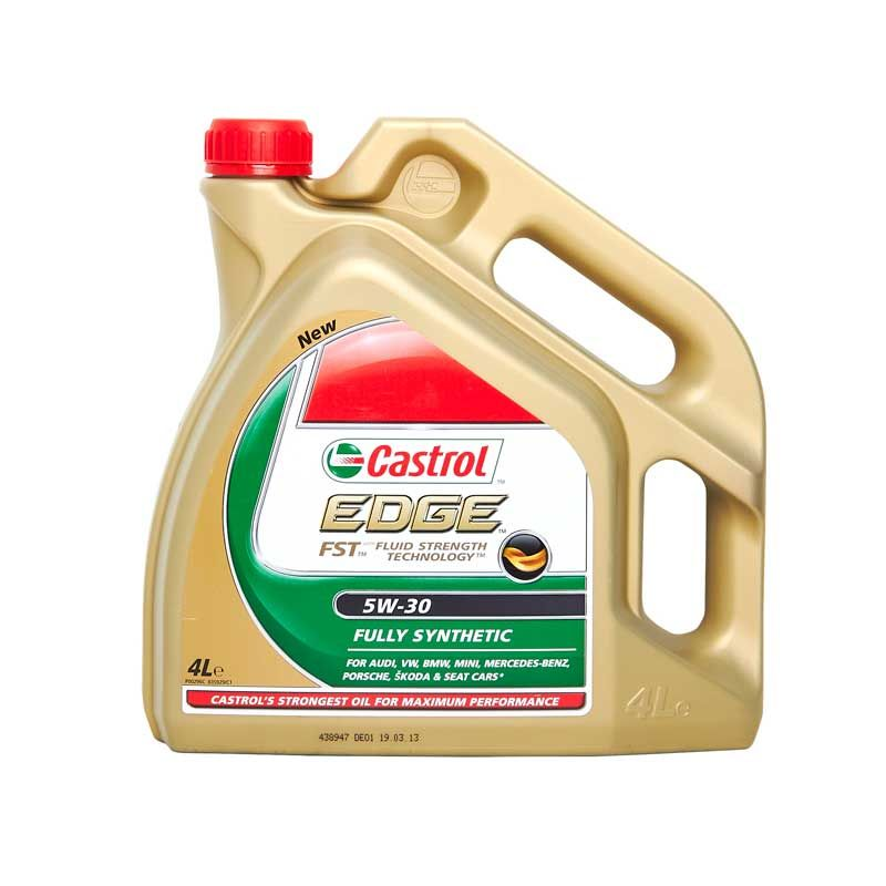 castrol edge sae 5w30 fully synthetic engine oil 4l vw gm longlife 4 litre car maintenance. Black Bedroom Furniture Sets. Home Design Ideas