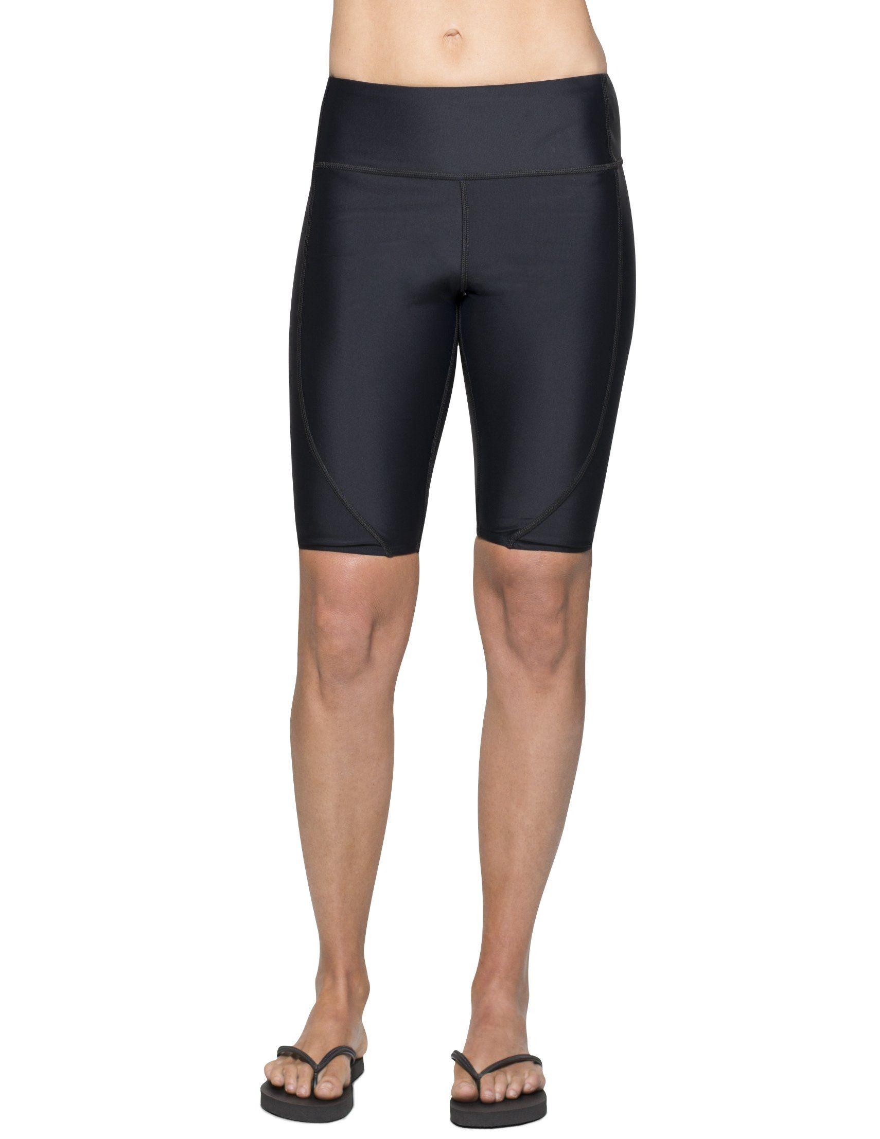 60352a2389 Tuga Women's Swim Short (UPF 50+), Black, 2X-Large. Lightweight ...