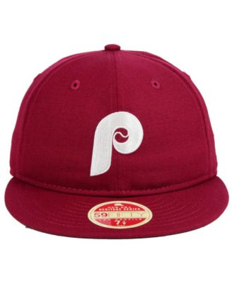 a2422fc7 New Era Philadelphia Phillies Heritage Retro Classic 59FIFTY Fitted Cap -  Red 8