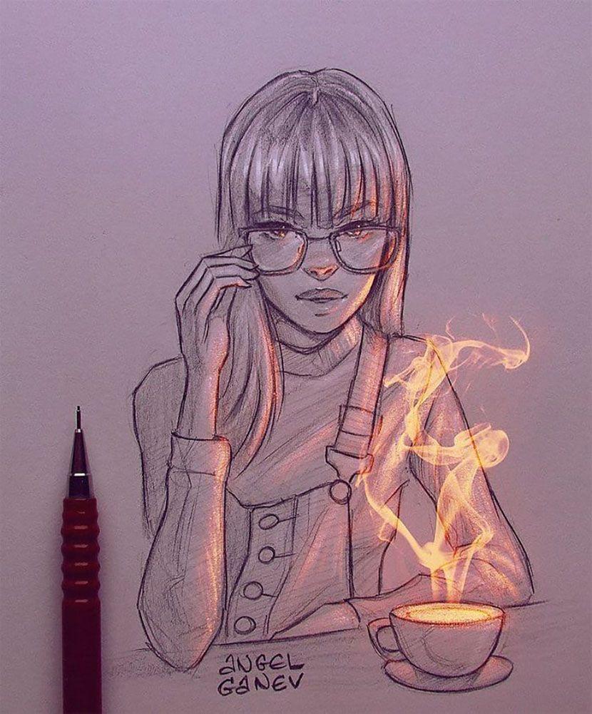 Aprende A Aplicar Efectos De Luz A Personajes Dibujando Con Angel Ganev Dibujos Deviantart Artistas Dibujos Realistas