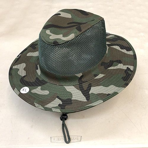 Boonie Hat Military Camo Bucket Wide Brim Mesh Visor with Neck Flap ... 22919e7d221